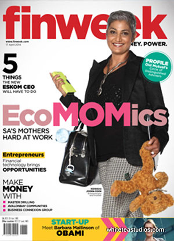 Ridwana Jooma on the cover of Finweek.