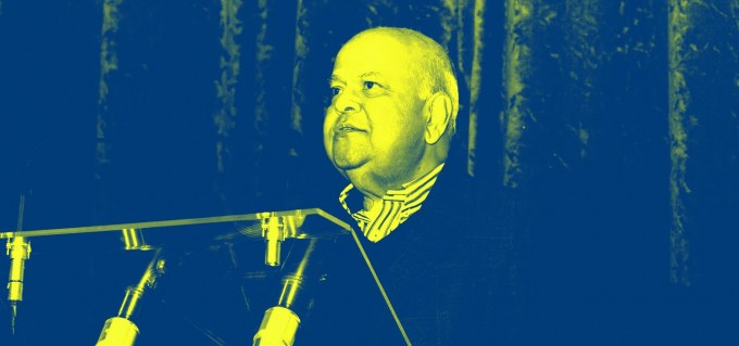 Pravin Gordhan speaks at #JozisBBF. Image courtesy of jozisbbf.com